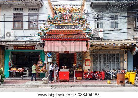 Bangkok, Thailand - September 25th 2012: Chinese Shrine Tai Sia Huk Chou. There Are Many Shrines In