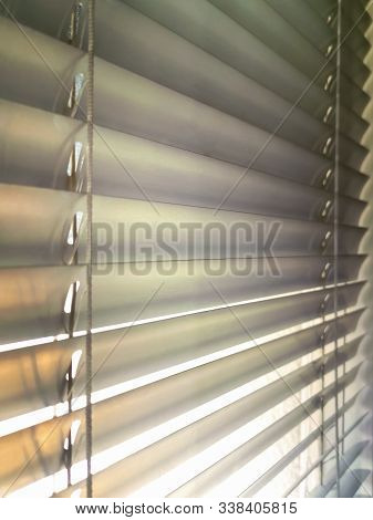 Close Up Louvers , Shade, Blind Or Shutters Background . Aluminum Louver Or Glass Shutter Windows Te
