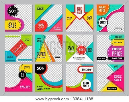 Social Post Template. Media Fashion Banners Digital Brochures Marketing Advertizing Promo Bundles Ve