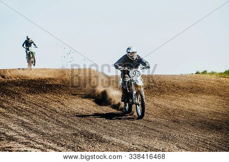 Motocross Sport Trail In Motocross Competition Race