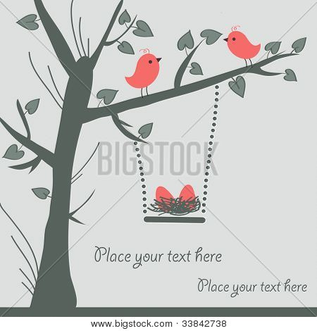 Vector Bird Card