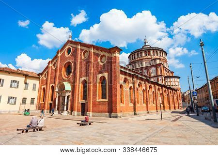 Santa Maria Delle Grazie Or Holy Mary Of Grace Is A Church And Dominican Convent In Milan, Northern