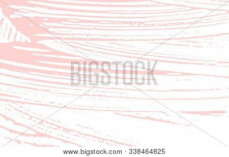 Grunge Texture. Distress Pink Rough Trace. Fabulous Background. Noise Dirty Grunge Texture. Valuable