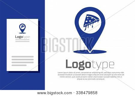 Blue Map Pointer Fast Vector & Photo (Free Trial) | Bigstock