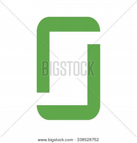 This Is A Vector Illustration Of A Green Frame. Great Boarder Design. Great For Stationary And Scrap