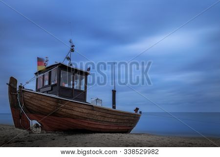 Old Fishing Boat On The Isle Usedom.
