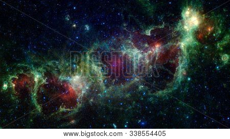 Vivid Space Nebula - Supernova Remnant. Elements Of This Image Furnished By Nasa