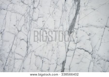 White Classy Italian Marble Surface With Light Grey Vain Markings