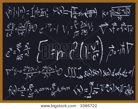 Blackboard Sign Of Real Equations