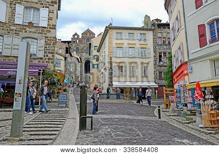 May 3, 2015 - Puy-en-velay, France: The Medieval Streets Of Le Puy-en-velay City The Famous Distonat