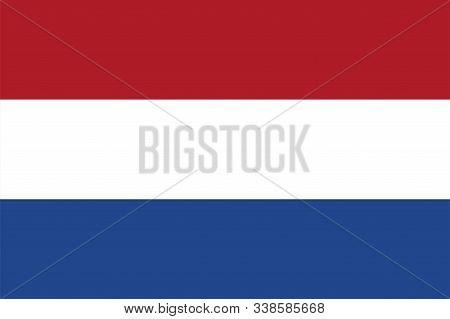 Netherland Flag. National Flag Of Netherland. Vector Illustration.