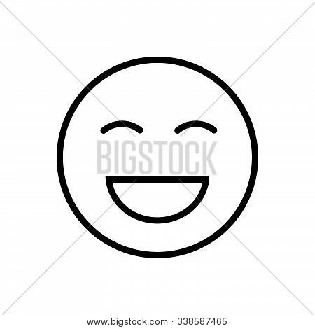 Black Line Icon For Laugh Laughter Jibe Ridicule
