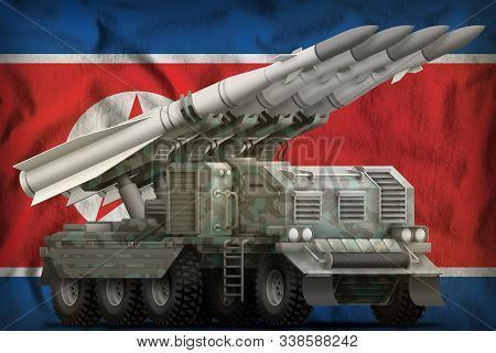Tactical Short Range Ballistic Missile With Arctic Camouflage On The Democratic Peoples Republic Of