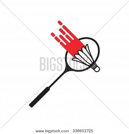 Smash Badminton Icon Design Template Vector Isolated
