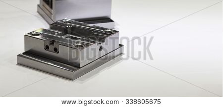 Die Or Tooling As Set Of Assembly Metal Parts Use For Mass Production Process In Factory ; Industria