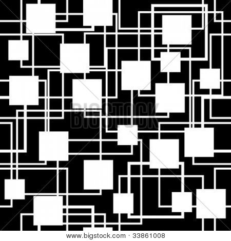 black-and-white seamless retro pattern