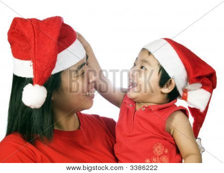 Christmas Mother And Daughter