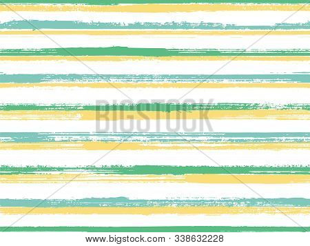 Stripes Geometric Textile Seamless Vector Pattern. Unique Minimalist Design. Geometric Casual Print