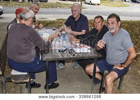 Seniors Play Cards