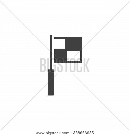 Football Foul Flag Vector Icon. Filled Flat Sign For Mobile Concept And Web Design. Soccer Referee F