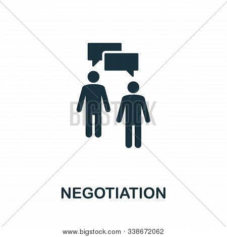 Negotiation Icon. Creative Element From Business Administration Collection. Simple Negotiation Icon