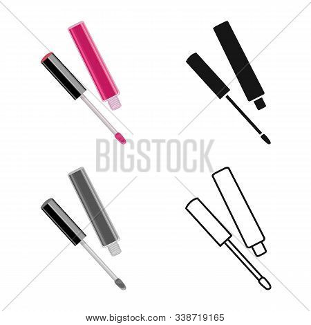 Vector Illustration Of Lipstick And Pomade Icon. Web Element Of Lipstick And Gloss Stock Vector Illu