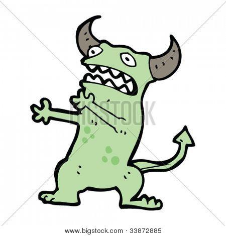 crazy alien monster cartoon