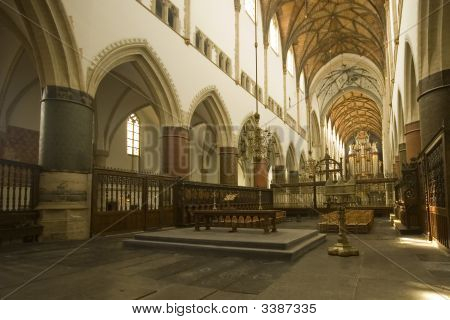 Inside Saint Bavo Cathedral
