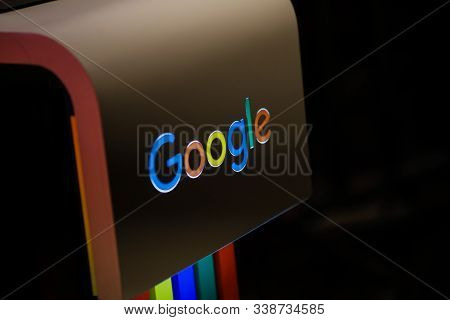 Bucharest, Romania - December 10, 2019: Shallow Depth Of Field (selective Focus) Image With The Goog