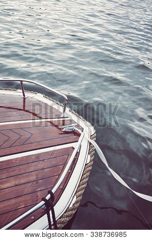 Old Wooden Boat Bow, Color Toning Applied.
