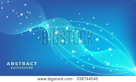 Colorful abstract background with wavy shapes, Abstract Wave Background With Colorful Shapes