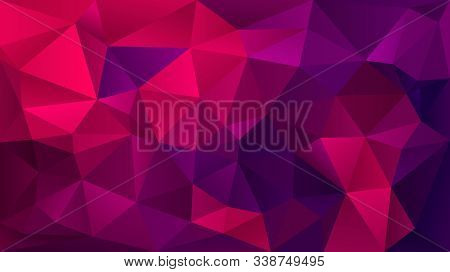Modern Blue Abstract Polygonal Mosaic Background. Geometric Texture Background In Origami Style. Low