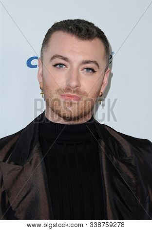 Sam Smith at the KIIS FM's Jingle Ball 2019 held at the Forum in Inglewood, USA on December 6, 2019.