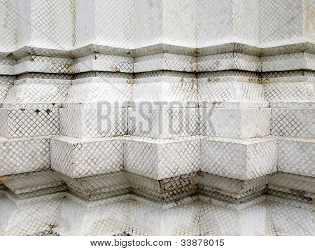 Old White Serration Wall