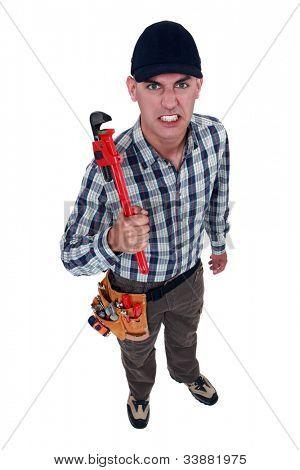 A mad handyman.