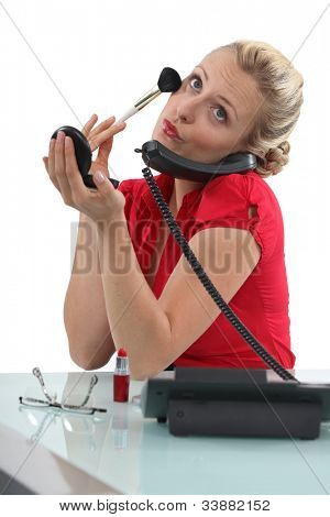 Stereotype blond secretary