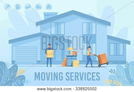 Home Moving Service For New Settler Flat Banner