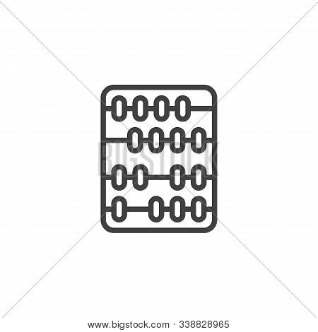 Arithmetic Abacus Line Icon. Linear Style Sign For Mobile Concept And Web Design. Abacus Calculation