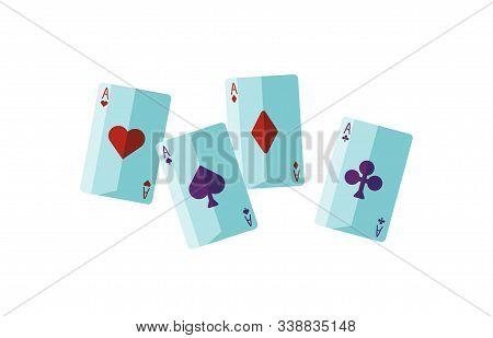 Fortune Telling Cards Flat Vector Illustration. Soothsayer Attribute. Cartomancy, Divination, Sortil