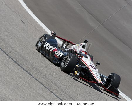 Ft WORTH, TX - JUN 08:  Will Power (12) prepares to qualify for the Firestone 550 race at the Texas Motor Speedway in Fort Worth, TX on June 08, 2012.