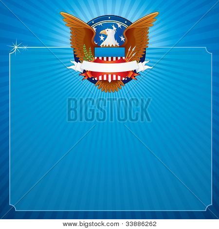 Vector Background with American Eagle