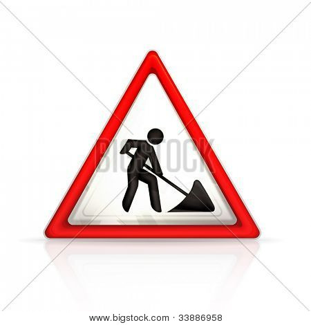 Roadworks sign, bitmap copy