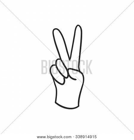 peace hand gesture vector photo free trial bigstock peace hand gesture vector photo free