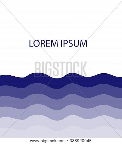 Vector Illustration Of Waves Background. Abstract Backdrop.