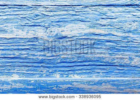 Trendy Classic Blue Color 2020 Wooden Texture Background. Blue Wooden Pattern For Design. Wallpaper