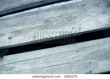 Grey boards on the boat. Abstract. Object poster