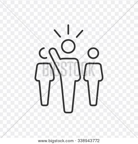 Success People Icon. Idea Icon. User Icon. Stock Vector Illustration Isolated On White Background.