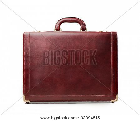 Isolated leather briefcase