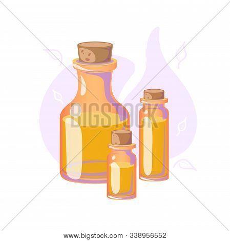 Massage Oil For Beauty, Spa Salon. Essential Fragrance Aromatherapy. Wellness Perfume Cosmetics Prod
