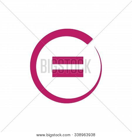 Equal Icon, Flat Illustration Of Equal, Vector Icon, Equal Sign Symbol Vector